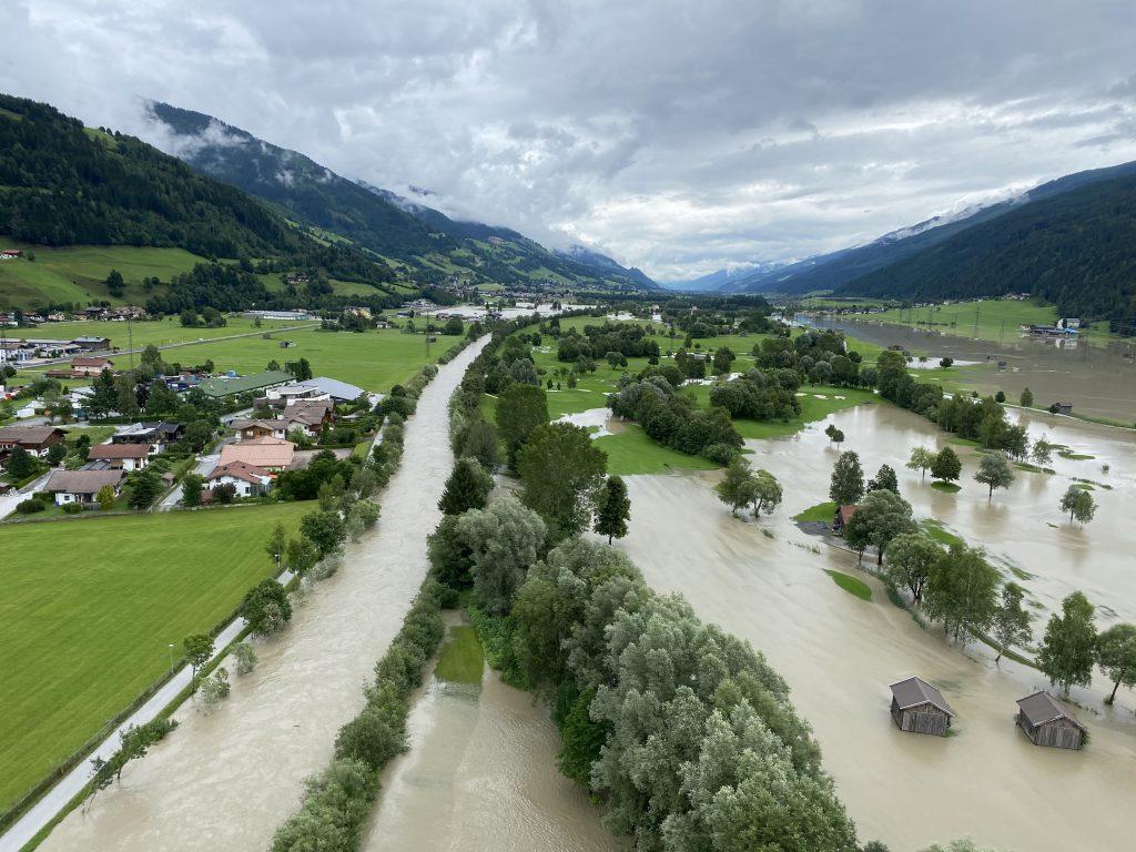 Überschwemmung im Oberpinzgau (Copyright: Land Salzburg/Franz Wieser)